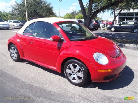convertible volkswagen 2006 2006 volkswagen new beetle 2 5 convertible in salsa red