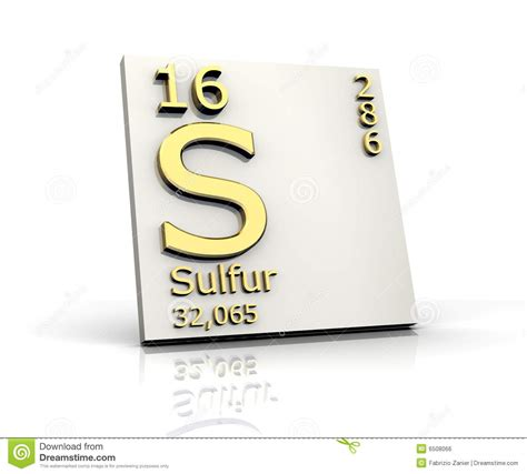 Sulfur On Periodic Table by Sulfur Form Periodic Table Of Elements Royalty Free Stock
