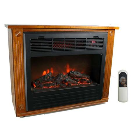 lifesmart electric fireplace lifesmart ls fp1500 1500w infrared quartz electric