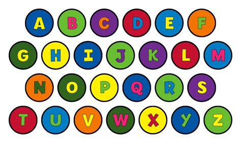 printable letters in circles alphabet