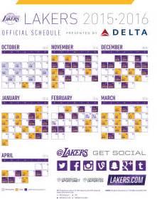 lakers home schedule la lakers schedule printable calendar template 2016