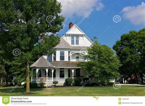 New England Style House Plans victorian house with porch stock image image of