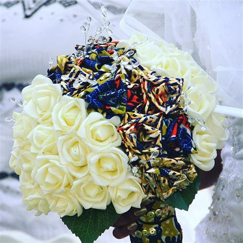 My ever loving ankara brides bouquet! This was handmade