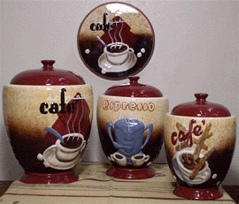 kitchen decorative canisters popular coffee themed kitchen decor ideas randy gregory