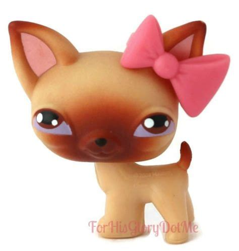 lps puppy littlest pet shop lps 1 brown chihuahua puppy made retired lps