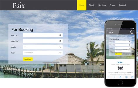 templates bootstrap free hotel paix a hotel category flat bootstrap responsive web