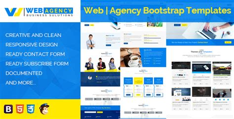 templates bootstrap agency web agency html bootstrap template by templatesell