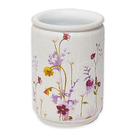how to pressed flower l shades buy croscill 174 pressed flowers tumbler from bed bath beyond