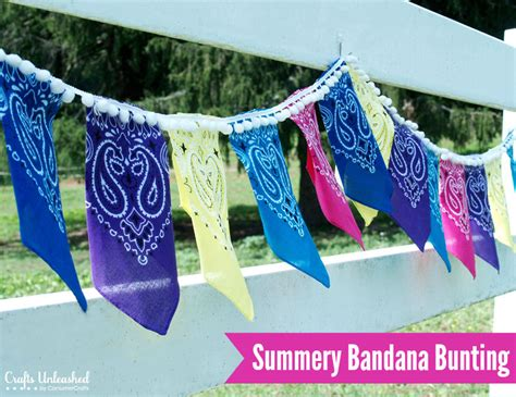 diy bandana diy bandana bunting for summer crafts unleashed