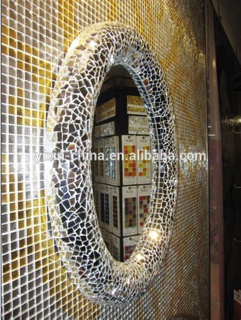 2015 luxury novelty mosaic glass mirrorlarge fish shape