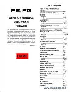 Mitsubishi Canter Manual Mitsubishi Fuso 2002 2004 Repair Manual Trucks Buses