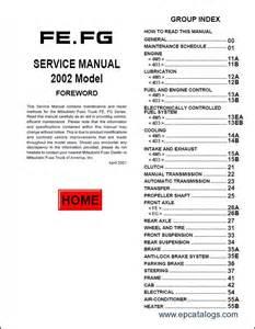 Mitsubishi Fuso Service Manual Mitsubishi Fuso 2002 2004 Repair Manual Trucks Buses