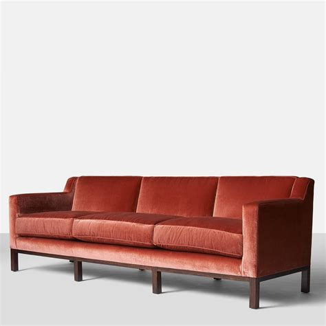 edward wormley for dunbar curved back sofa for sale at