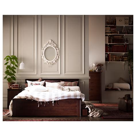 Brusali Bed Frame With 4 Storage Boxes Brown Lur 246 Y Brusali Bed Frame With 4 Storage Boxes