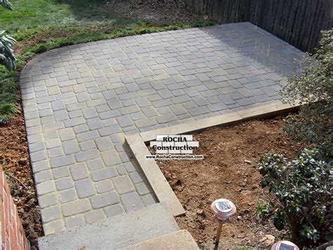 Pavers Or Concrete Patio Simple Paver Patio Home Design Scrappy