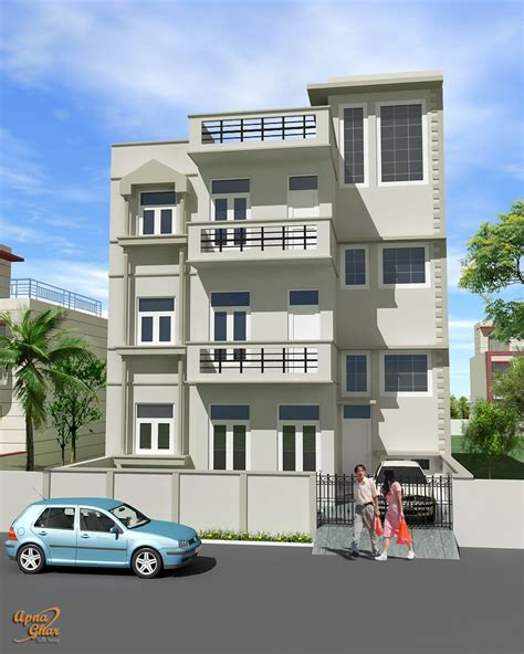 mansions designs triplex house design apnaghar house design page 2