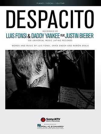 despacito easy lyrics justin bieber despacito sheet music direct