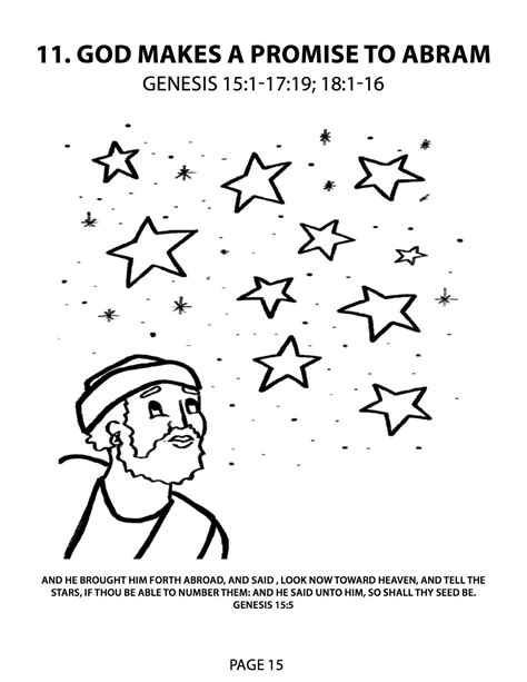 abraham covenant coloring page gods promise to abraham lesson 11 god makes a promise