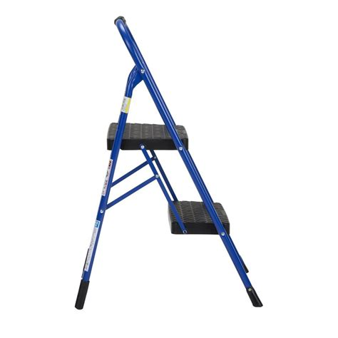 Cosco Two Step Stool by Cosco 2 Step Big Step Folding Step Stool With Rubber Grip 11308swb1e