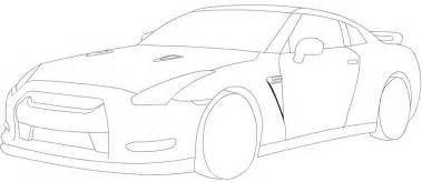 How To Draw A Nissan Gtr How To Draw Nissan Gt R Drawing Sketch Coloring Page