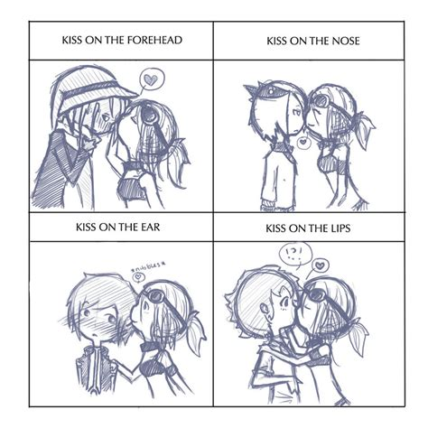 kissing meme by despereaux 7 on deviantart