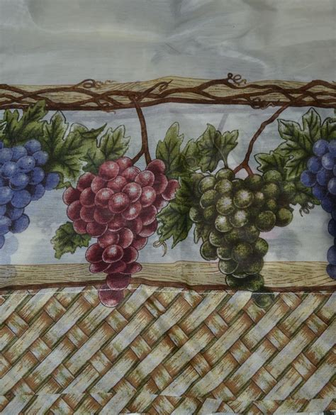 grapes kitchen curtains window curtain set country kitchen grape tiers swag 56w 24l ivory vineyard new ebay