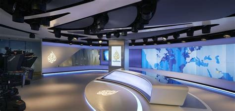 newsroom  tv broadcasting studio  al jazeera media