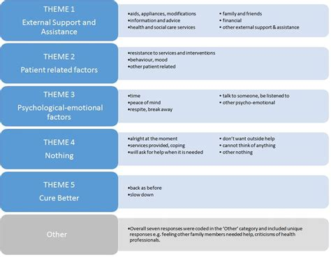 themes and subthemes in qualitative research needs of informal caregivers across the caregiving course