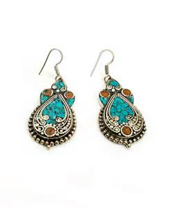 Handmade Tribal Jewellery - vintage handmade earrings afghan kuchi tribal jewelry boho