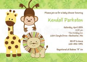 jungle invitation template safari baby shower invitations template and babies