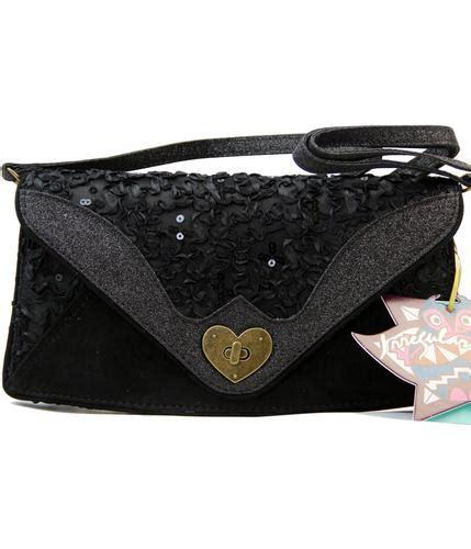 Irregular Choices Clutch by Irregular Choice Dazzle Razzle Retro Clutch Bag In Black