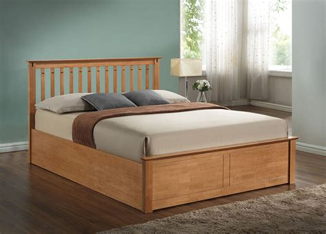 harmony beds kensington 4ft 6 double wooden ottoman bed