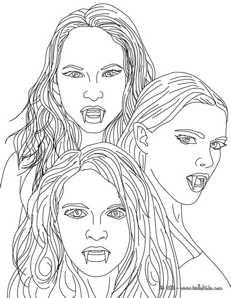 kleurplaat   empusa mythical vampires coloring page