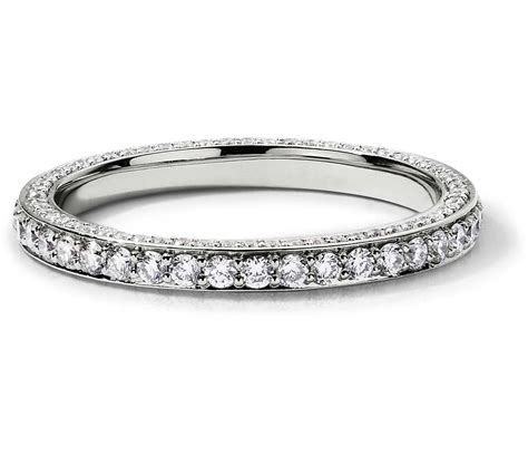 trio micropav 233 eternity ring in platinum 4 5 ct