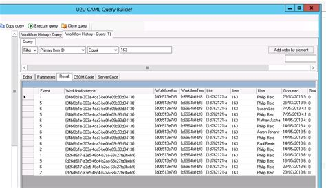 workflow history list caml query on workflow history list 2013 after upgrade
