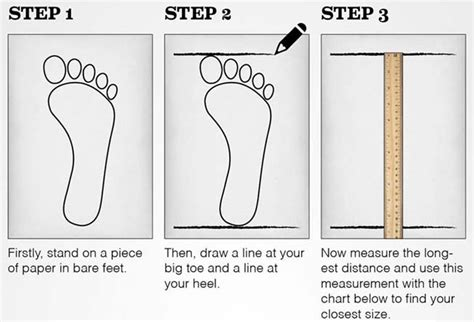 shoe size chart how to measure mens shoe size chart at shoeever com