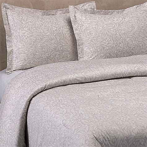 vera wang bamboo leaves comforter set in grey bed bath