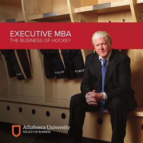Athabasca Nhl Mba by Executive Mba Hockey Brochure By Au Connected Issuu