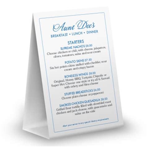 menu tent card template customize 280 drink specials menu templates musthavemenus