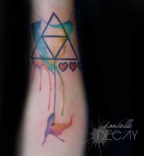 watercolor tattoo zelda watercolor watercolor triforce by