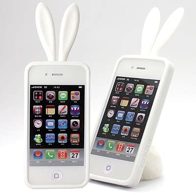 Casing Iphone 5 Bunny iblogstore rabito iphone 4 rabbit ear casing fluffy