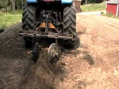 part  home  tractor attachment hiller row bed maker