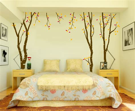 Wall Decor For Bedroom Large Wall Birch Tree Decal Forest Vinyl Sticker Removable With Leaves Branches 1119