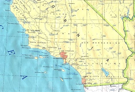 topographical map of southern california southern california base map