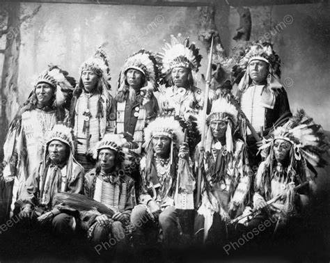the ethnology of the salinan indians classic reprint books sioux chiefs 1899 vintage 8x10 reprint of photo ebay