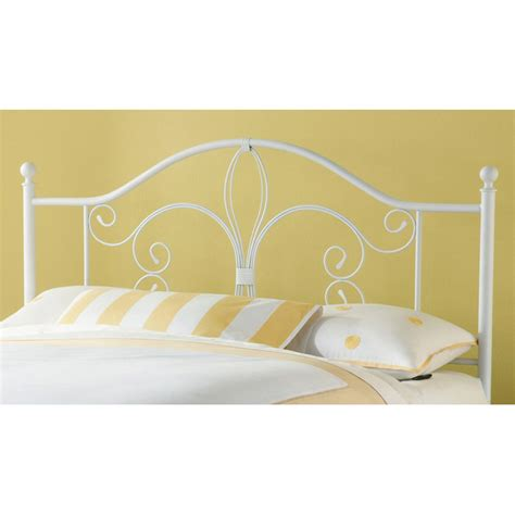White Metal Headboard by Ruby Textured White Metal Headboard Dcg Stores