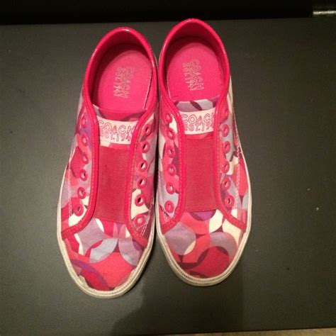 75 coach shoes pink coach sneakers from tara s