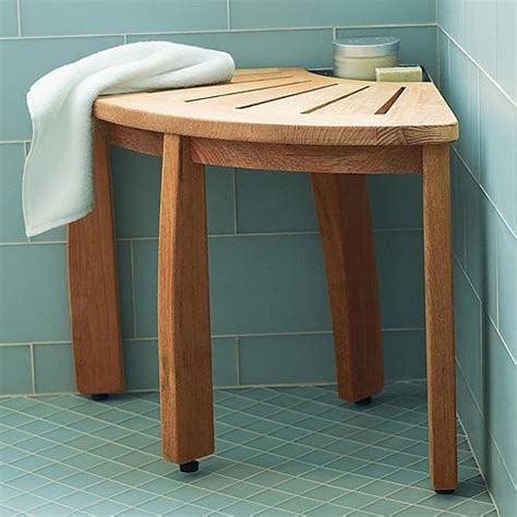 teak corner shower seat with basket 17 best images about room on two person