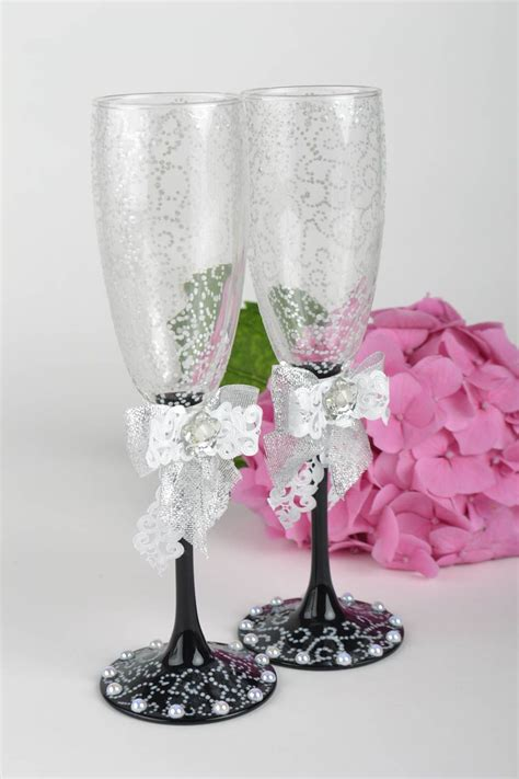 decoracion de vasos de vidrio para navidad madeheart gt copas para novios hechos a mano vasos de