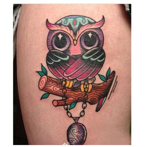 colorful owl tattoos 30 owl tattoos ideas